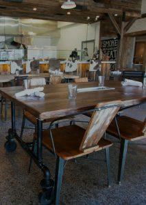 Rustic Restaurant Tables
