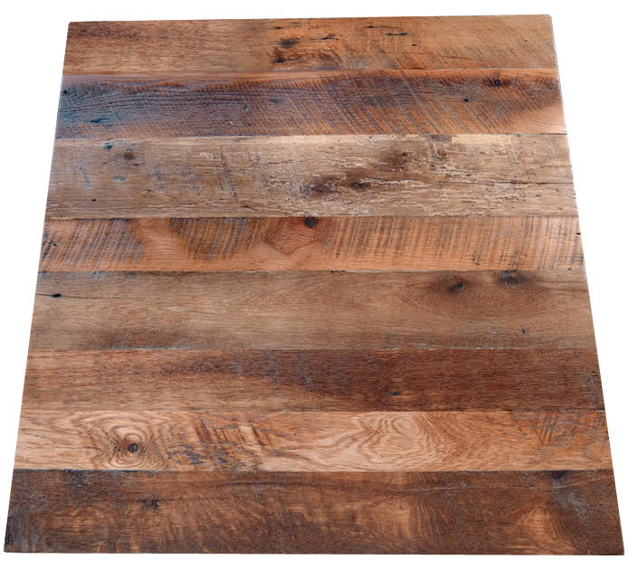 Reclaimed Oak Wood Tabletop No Base Rustic Restaurant Furniture - Reclaimed oak table top