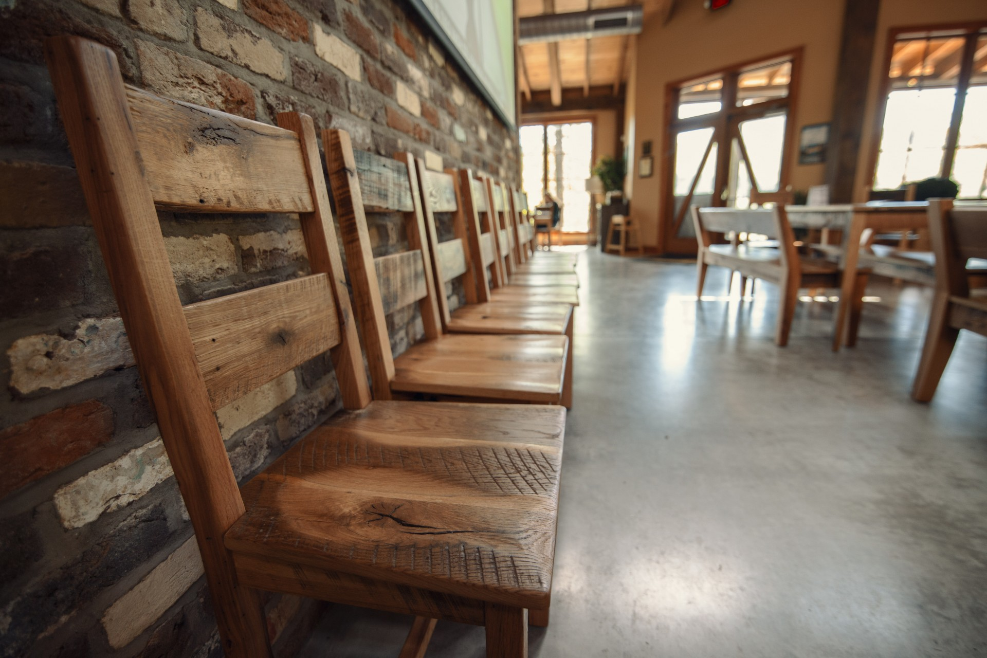 Bold Rock Hard Cider Is Handcrafted From Locally Grown Apples In Virginia  And North Carolina. Rustic Restaurant Furniture Outfitted One Of Their  Beautiful ...
