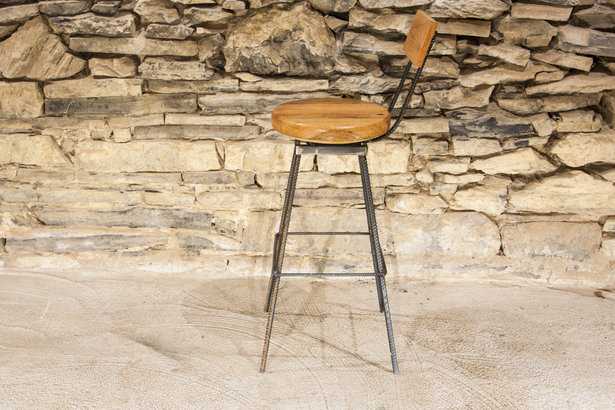 The Sully Reclaimed Wood And Industrial Rebar Swivel Bar