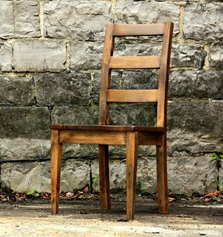 Smoked Oak Urban Modern Reclaimed Wood Dining Chair