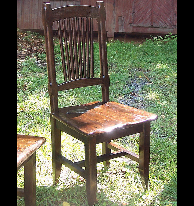 Reclaimed Antique Oak Rustic Spindle Back Chair Rustic