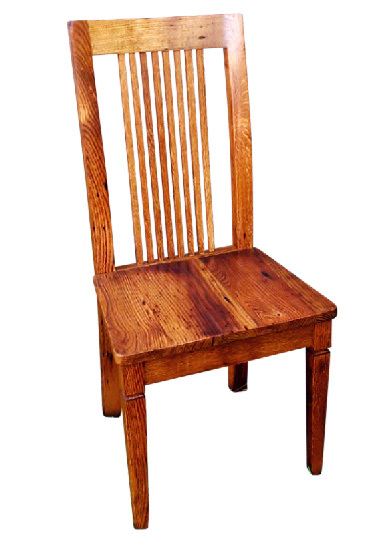 Wormy Chestnut Colonial Style Dining Chair