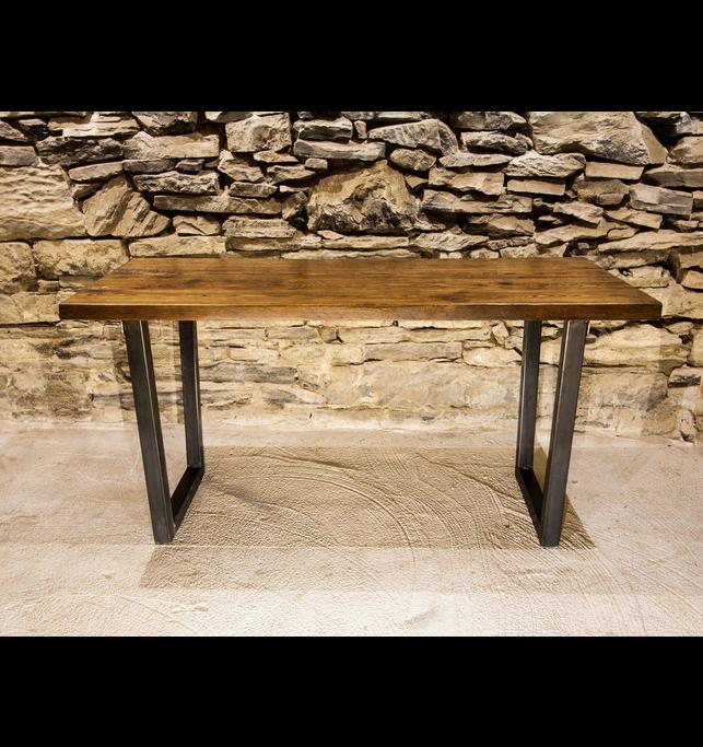 The Rahannock Urban Modern Reclaimed Wood Table With Base