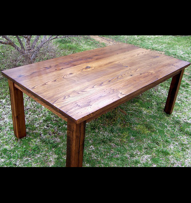Wormy Chestnut Thick Plank Farm Table U2013 Bunkhouse Style