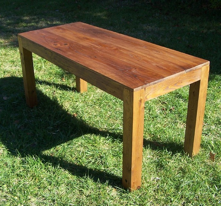 Reclaimed Wood Parsons Table