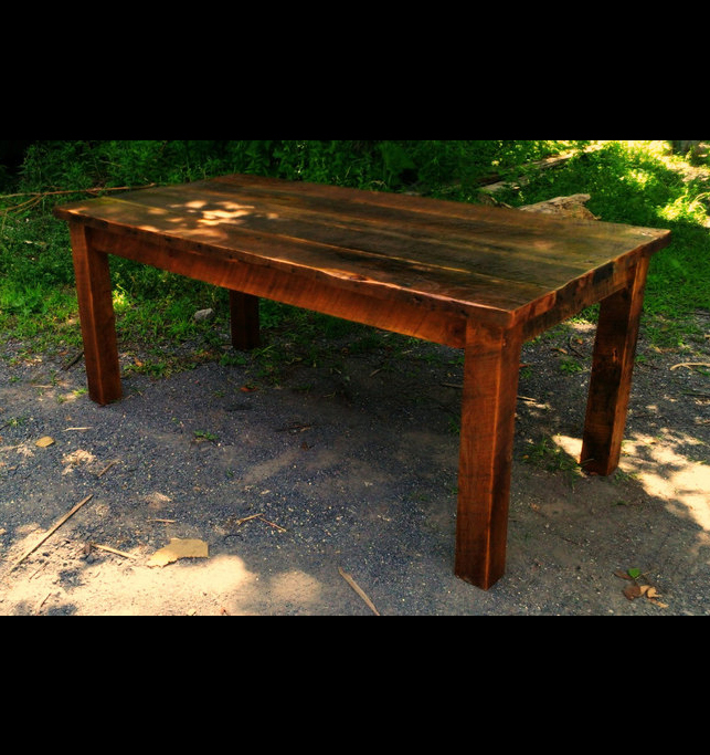 Beautiful Primitive Farmhouse Table From Antique Reclaimed Wood