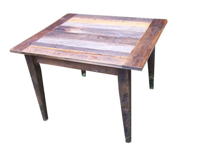 Weathered Gray Barn Wood Dining Table Rustic Restaurant
